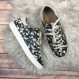 Lucky Brand | Lotus Floral Graphic Leather Sneaker